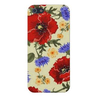La amapola de la primavera florece amarillo azulve iPhone 5 protector