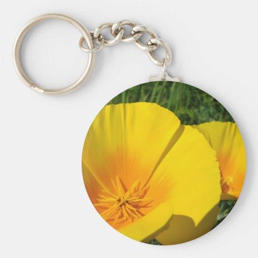 La AMAPOLA de las AMAPOLAS florece los regalos del Llavero Redondo Tipo Pin