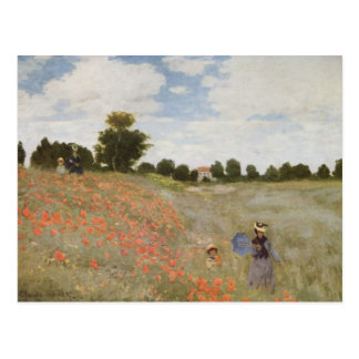 La amapola de Monet archivada Postales