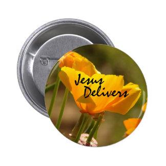 La amapola Jesús entrega el botón Pins