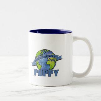 La amapola más grande del mundo tazas de café