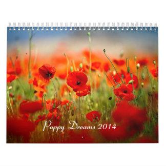 La amapola soña 2014 calendario de pared