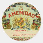 La Amenidad Cigars Round Sticker