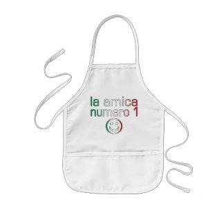 La Amica Numero 1 en los colores italianos de la Delantal Infantil