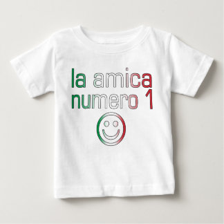 La Amica Numero 1 in Italian Flag Colors for Girls Baby T-Shirt