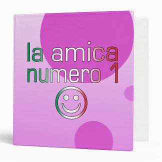 La Amica Numero 1 in Italian Flag Colors for Girls Binder