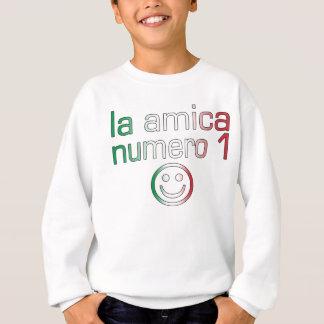 La Amica Numero 1 in Italian Flag Colors for Girls Sweatshirt