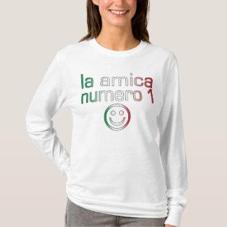 La Amica Numero 1 in Italian Flag Colors for Girls T-Shirt