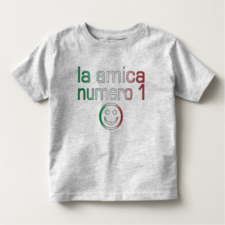La Amica Numero 1 in Italian Flag Colors for Girls Toddler T-shirt