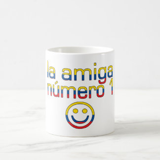 La Amiga Número 1 Ecuadorian Flag Colors 4 Girls Classic White Coffee Mug