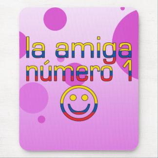 La Amiga Número 1 Ecuadorian Flag Colors 4 Girls Mouse Pad