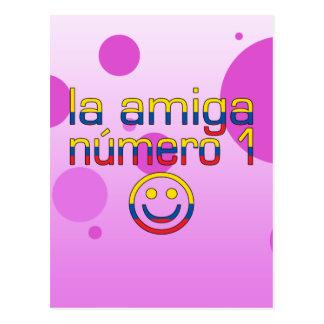 La Amiga Número 1 Ecuadorian Flag Colors 4 Girls Postcard