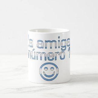 La Amiga Número 1 in Argentine Flag Colors 4 Girls Coffee Mug