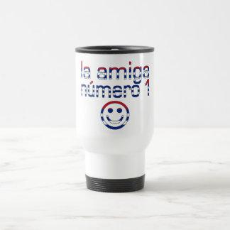La Amiga Número 1 in Cuban Flag Colors for Girls Coffee Mug