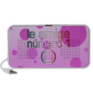 La Amiga Número 1 in Mexican Flag Colors 4 Girls Travelling Speaker