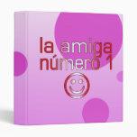 La Amiga Número 1 in Peruvian Flag Colors 4 Girls Vinyl Binders