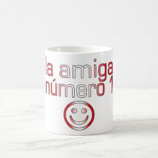 La Amiga Número 1 in Peruvian Flag Colors 4 Girls Coffee Mug