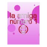 La Amiga Número 1 in Peruvian Flag Colors 4 Girls Post Card
