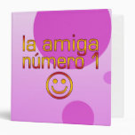 La Amiga Número 1 in Spanish Flag Colors for Girls Binders