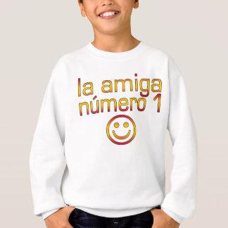 La Amiga Número 1 in Spanish Flag Colors for Girls Sweatshirt
