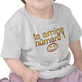 La Amiga Número 1 in Spanish Flag Colors for Girls T-shirts