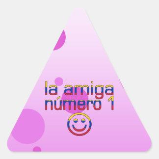 La Amiga Número 1 Venezuelan Flag Colors 4 Girls Triangle Sticker
