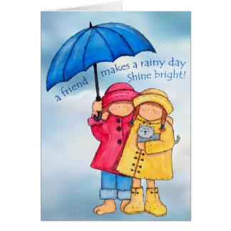 La amistad brilla brillante tarjeta de felicitación