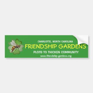La amistad cultiva un huerto pegatina para el para pegatina para auto