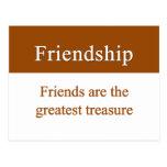 La amistad debe ser atesorada postales