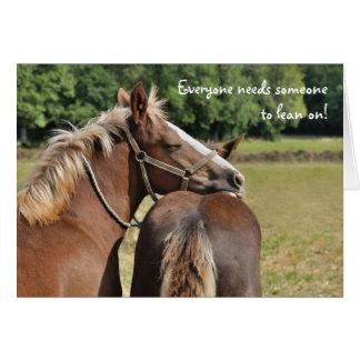 La amistad del potro le agradece tarjeta de felicitación