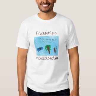 ¡La amistad es camiseta de la barra de Polera
