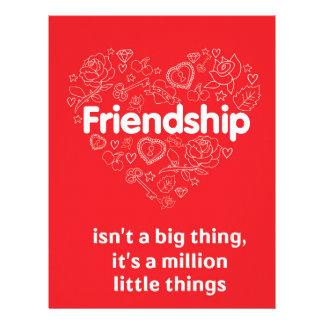 La amistad es cita linda de millón de cosas plantilla de membrete