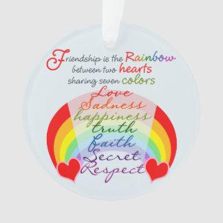 La amistad es el arco iris BFF que dice diseño