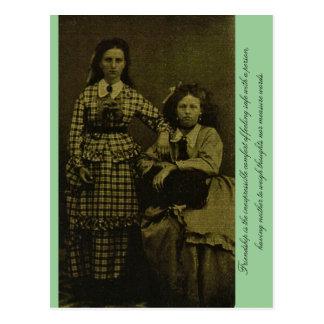 La amistad es la comodidad inexpresable… postales