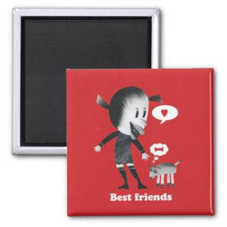 ¡La amistad es la mejor cosa del mundo! Imán De Frigorífico