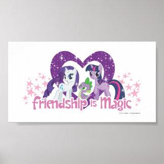 La amistad es mágica póster