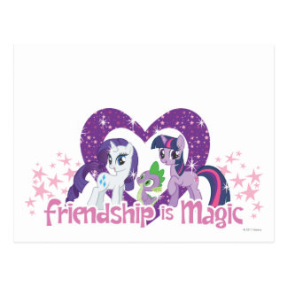 La amistad es mágica tarjeta postal