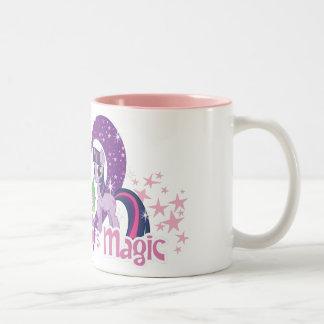 La amistad es mágica taza de café