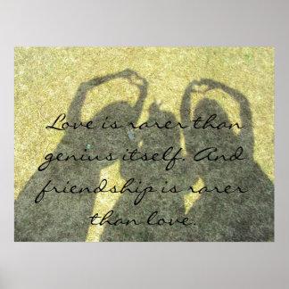 La amistad es poster raro