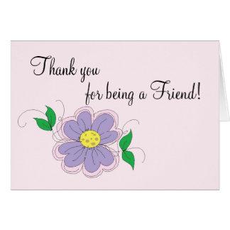 La amistad le agradece cardar tarjetas