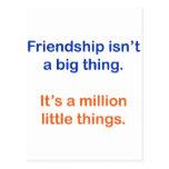 La amistad no es una cosa grande postal