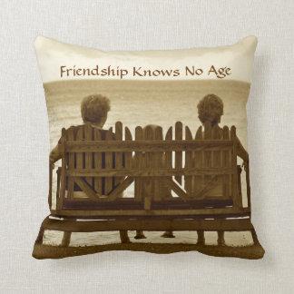 La amistad no sabe ninguna edad cojin