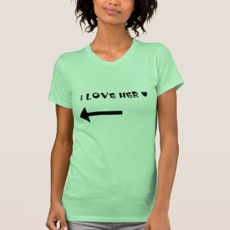 La amo - camisa de los pares