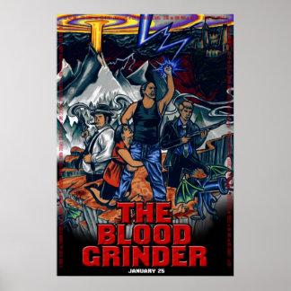 La amoladora de la sangre - Uno-Hoja de teatro Póster