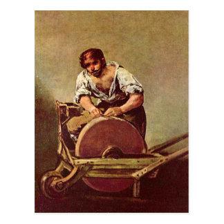 La amoladora - Francisco de Goya Postal