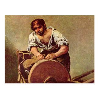 La amoladora - Francisco de Goya Tarjeta Postal