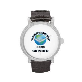 La amoladora más feliz de la lente del mundo relojes de pulsera