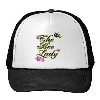 la ampliación de foto de la señora de la abeja gorras