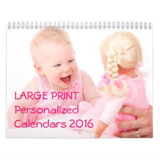 La ampliación de foto personalizada hace calendario