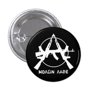 La anarquía de Molon Labe dispara contra el botón Pin Redondo De 1 Pulgada